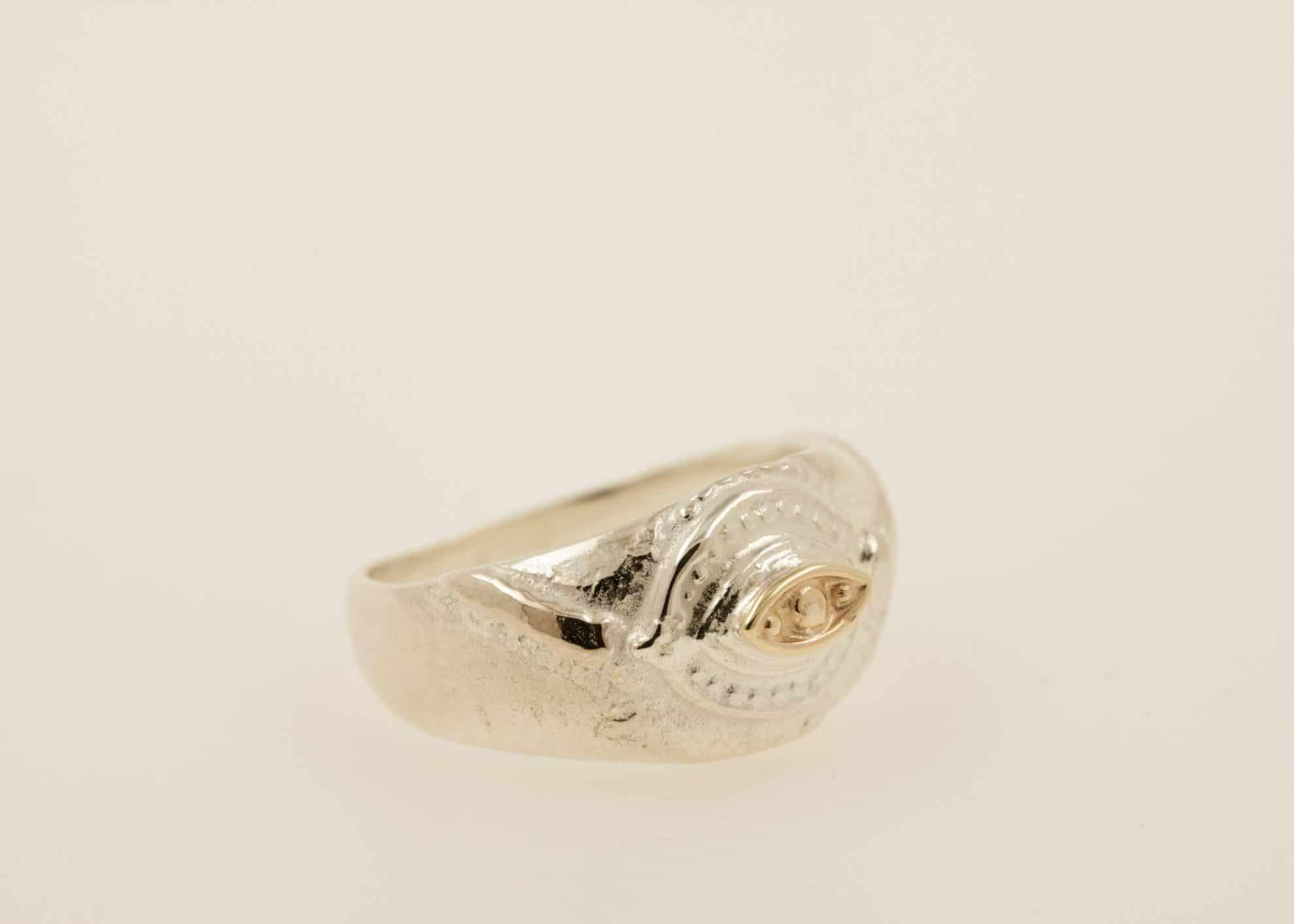 Sterling silver, 14kt gold
